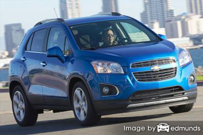 Insurance rates Chevy Trax in Aurora