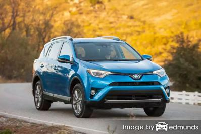 Insurance rates Toyota Rav4 Hybrid in Aurora